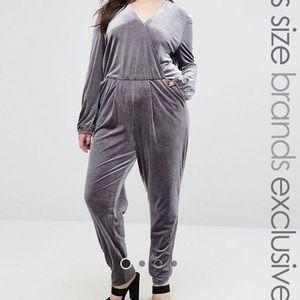 Velvet Jumpsuit silver